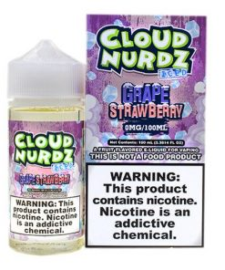 GRAPE STRAWBERRY ICED cloud nurdz