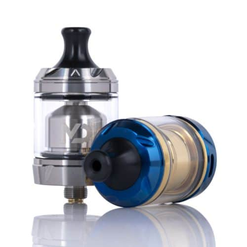 hellvape md rta 24mm drip tip blue gold e stainless steal